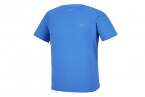 Mẫu áo thun thể thao nam tay ngắn cổ tròn màu xanh dương