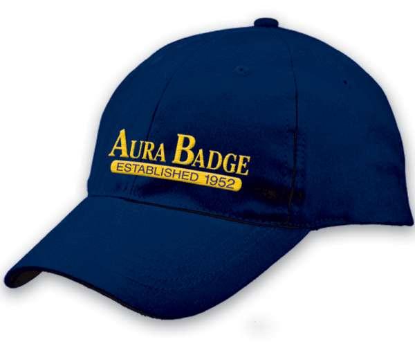 Mẫu nón kết đồng phục quảng cáo màu xanh thêu logo