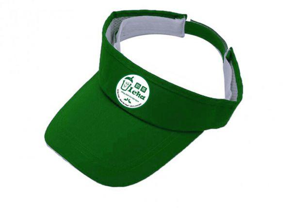 Mẫu nón kết đồng phục hở đầu màu xanh có in logo