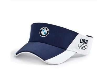 Mẫu nón kết đồng phục hở đầu phối màu xanh trắng có thêu logo