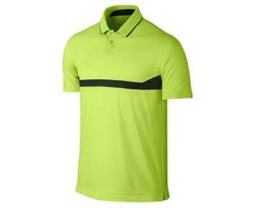 Mẫu áo thun thể thao nam tay ngắn cổ trụ màu xanh lá viền đen