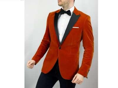 Mẫu áo vest nam công sở màu cam cháy