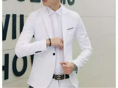 Mẫu áo vest nam công sở màu trắng