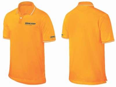 Áo thun đồng phục cổ trụ cao cấp màu vàng cam